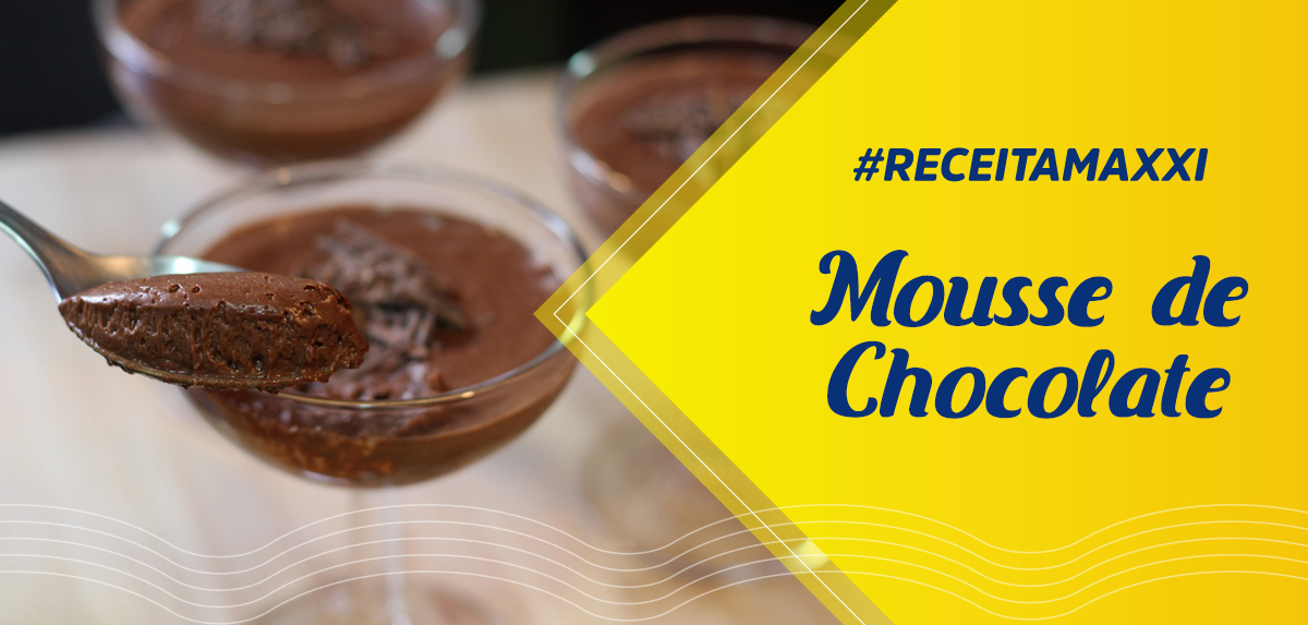 Receita Mousse de Chocolate
